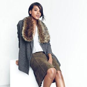 Joie Jamilee C Faux Fur Collar Cardigan